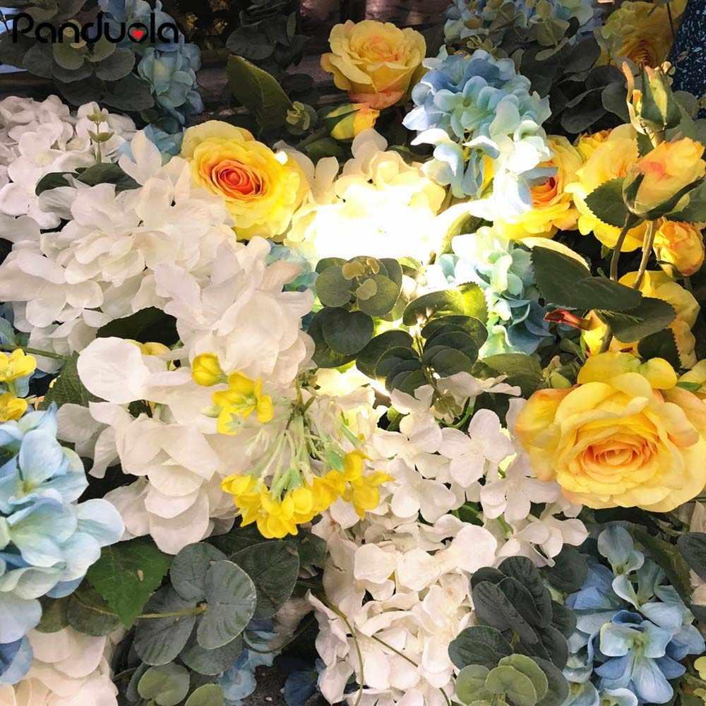 Decoraciones de flores artificiales para fiestas Decoración de mesa flores falsas flores de boda accesorios decorativos para el hogar 3 piezas