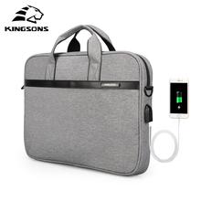 KINGSONS 11'' 12'' 13'' 14'' 15'' Laptop Sleeve Bag Waterproof Notebook Tablet Bags Case Messenger Shoulder for Men Women
