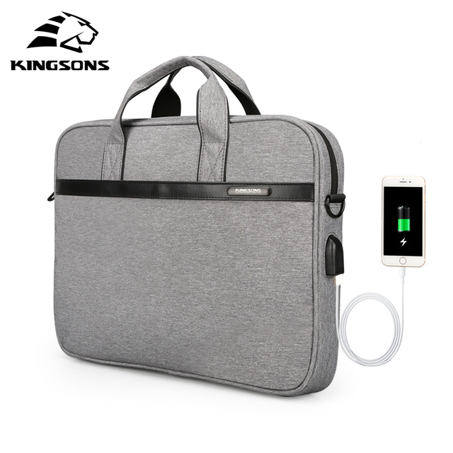 KINGSONS 11'' 12'' 13'' 14'' 15'' Laptop Sleeve Bag Waterproof Notebook Tablet Bags Case Messenger Shoulder for Men Women