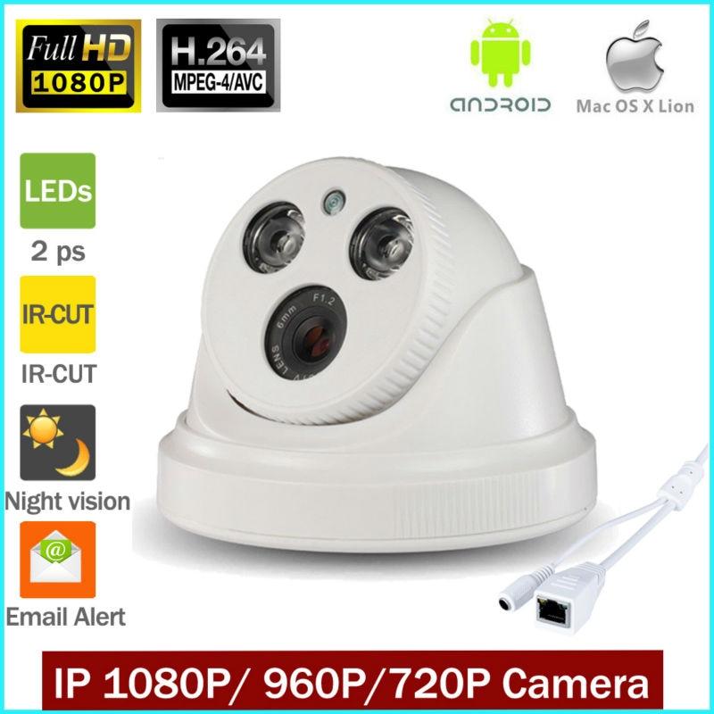 bilder für HD 1,0 MP 720 P 1.3MP 960 P 2,0 MP 1080 P Dome sicherheit überwachung CCTV IP kamera IR nacht vison ONVIF 2,0 netzwerk indoor Cam P