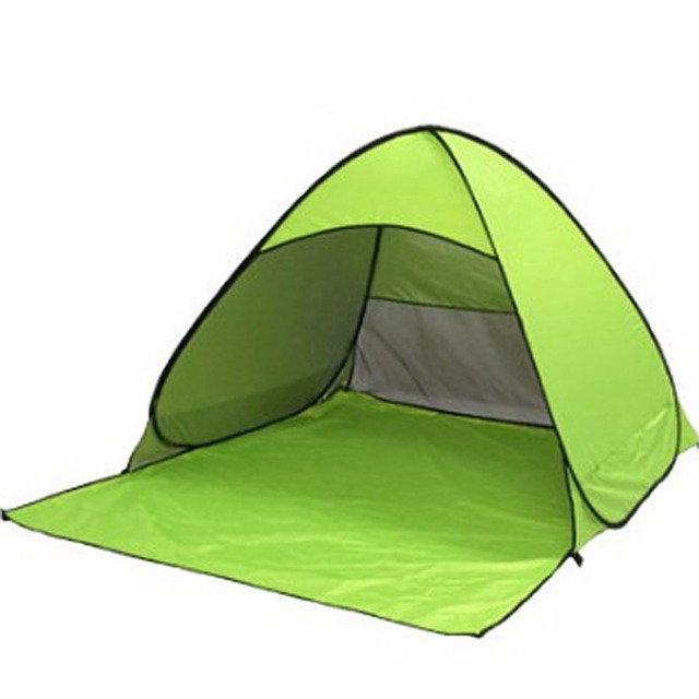 new arrival 81c78 7dfac US $22.02 15% OFF|1 2 Person Beach tent quick open automatic fishing tents  Anti UV Sun shade camping hiking -in Sun Shelter from Sports & ...