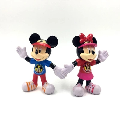 2pcs/lot Mickey Mouse Minnie Mouse Dolls PVC Action Figures Anime Figurines Kids Christmas Birthday Gift Girl Brinquedos