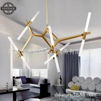 Modern Italian Design Personality Living Room Restaurant Lamps Creative Branch Arts Roll Hill Agnes Pendant Light