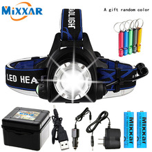 Led Headlamp Flashlight Fishing Camping Zoomable T6 L2 V6