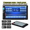 Double 2 DIN Car Bluetooth Audio 7in HD Radio In Dash Touch Screen Stereo MP3 MP5