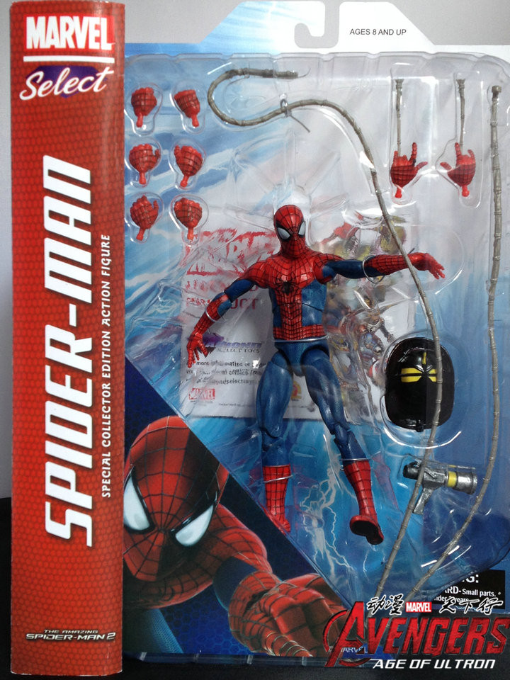 7 18CM New Fashion Marvel The Amazing Spiderman PVC Action Figure Collection Model Toy Christmas Gifts For Kids