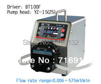 BT100F YZ15 touch screen Intelligent Dispensing Dosing Peristaltic Pump Precise Control Liquid Lab Tubing Pump 0.006 420ml/min