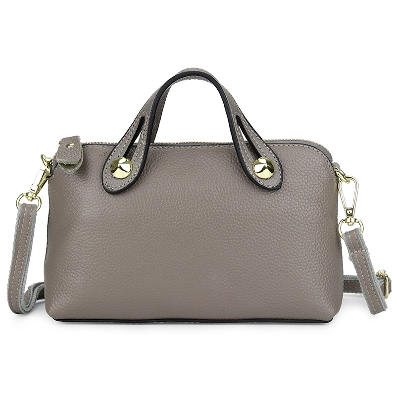 Genuine Leather Bags For Women 2019 Women's Top-Handle Purse Fashion Small Purple/Red/Gray/Black Lady Messenger Clutch Handbags