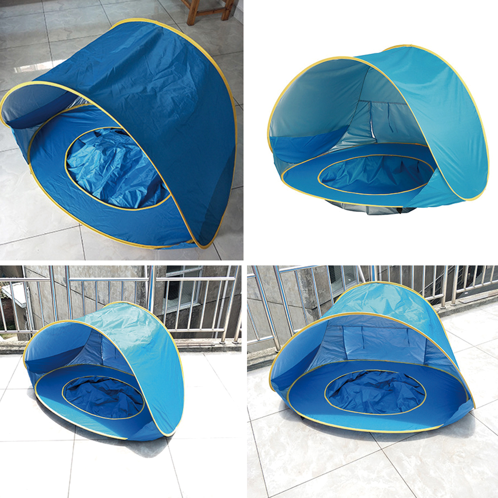 Baby beach tent uv-protecting sunshelter with a pool waterproof pop up awning tent kid outdoor camping sunshade beach
