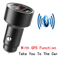 AMEEC Wholesales Price 5pcs 10pcs Universal 5V 3.1A Car Mobile Charger With Bluetooth GPS Fast Charge Auto USB Charger