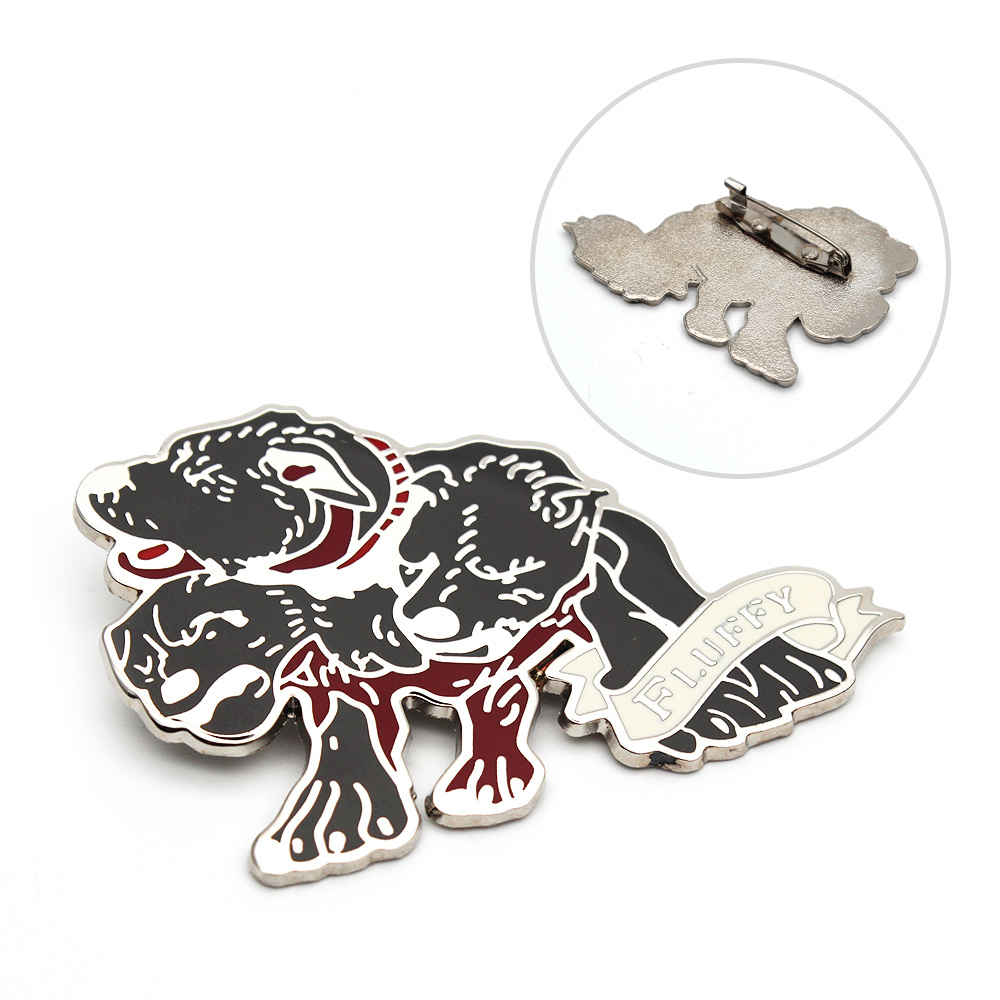 Giancomics Harri Potter the Sorcerer's Stone Three-headed Dog Fluffy Metal Badge Brooch Pin Chest Button Ornament Collection