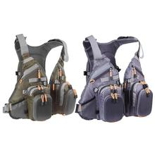 Three in 1 Grownup Fishing Vest Polyester Jacket Out of doors Sport Swimming Survival Security Life Jacket Vest Pesca Swimming Backpack