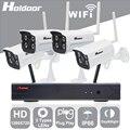 Holdoor 4CH Kit Câmera Wi-fi 1080 P NVR Sistema de Câmera de Segurança 720 P Câmera ONVIF NVR P2P IP Câmera Ao Ar Livre IP66 À Prova D' Água casa