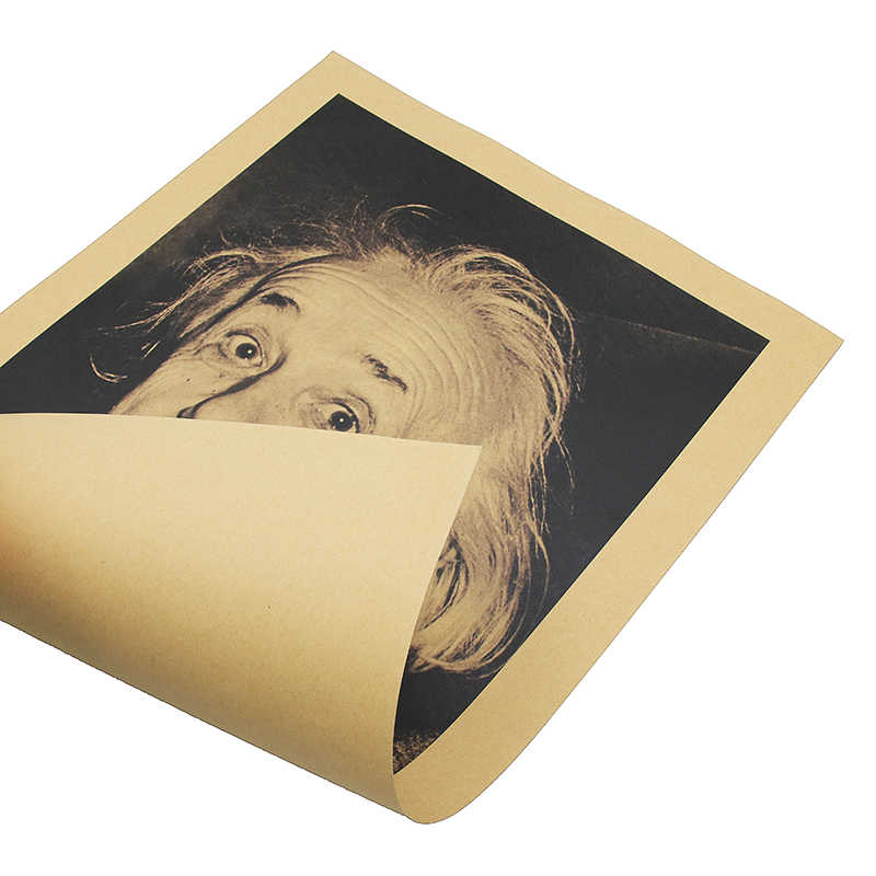 Naklejki ścienne Einstein wyobraźnia jest ważniejsza od wiedzy Retro plakaty papier Kraft naklejki ścienne w stylu Vintage plakat