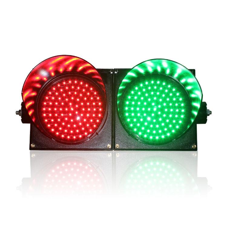 AC85-265V New Design PC Housing Horizontal Installation 200mm Red Green Full Ball LED Traffic Signa Light