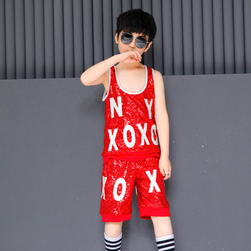 Kids Hip Hop Hoodies stage Clothing for Girls Crop Tank Top Shirt Shorts Jazz Dance Costume Ballroom Dancing Clothes Wear in Clothing Sets from Mother Kids