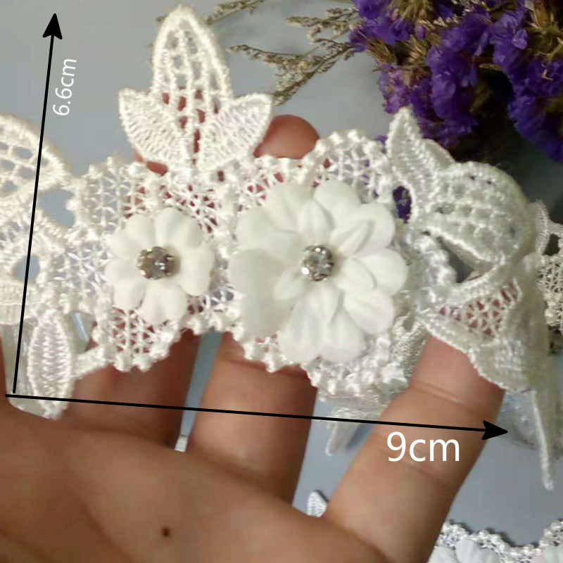 2.5cm Butterfly Embroidered Lace Sewing Trim DIY Craft Appliques 1 Yard ☆