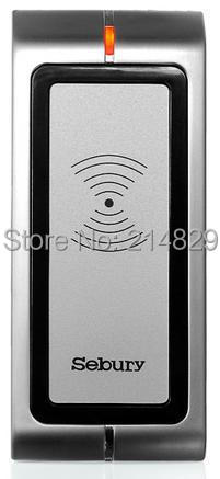 Shockproof 125KHz EM RFID ID Card Reader Door Access Controller IP65 of Strong zinc alloy electroplated forBank and Office