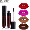 Imagic Brand Makeup 19 Color Lip Gloss Velvet Matte Lipgloss Waterproof Lip Kit Tattoo Batom Liquid Pomade Red Nude Labiales
