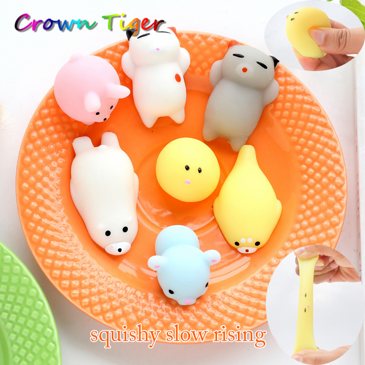 Squishy Stretchy Ball : 1pcs antistress ball Mini Squeeze Toy Squishy cat Cute Kawaii doll Squeeze Stretchy Animal ...