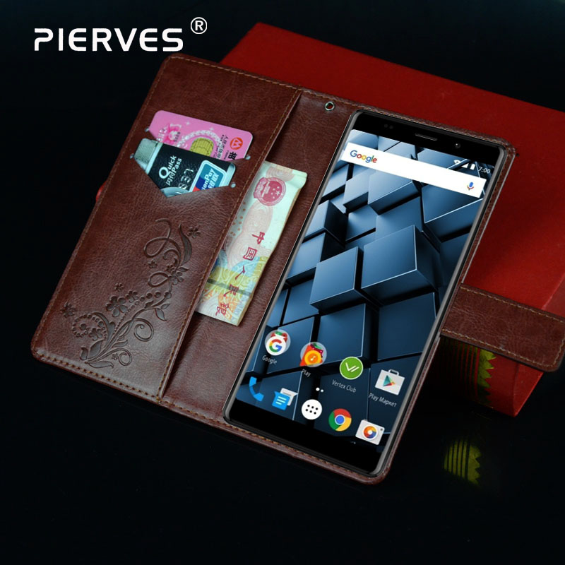 Pierves Luxury Flip PU Leather  Wallet Cover Phone Case For Vertex Impress CubePierves Luxury Flip PU Leather  Wallet Cover Phone Case For Vertex Impress Cube