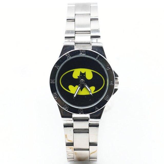 2018 New fashion steel batman watch Women Men's luxury quartz Square wristwatche