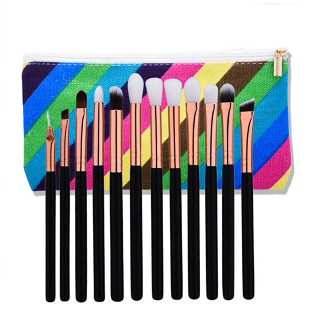 12pcs Eye Makeup Brushes Set Professional Eyeshadow Blending Powder Concealer Eye Nose Beauty Cosmetic Brush Kits 12pcs eye makeup brushes set eyeshadow