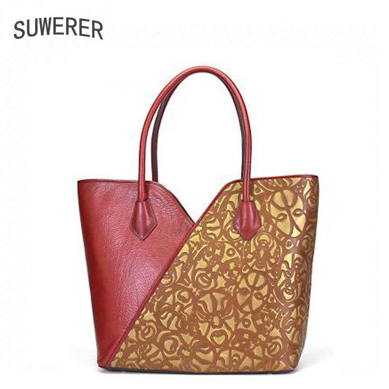 Schulter Suwerer Orange Print Messenger Neue Leder Premium 2019 Tasche Luxus Damen Designer wrAI4Brxq