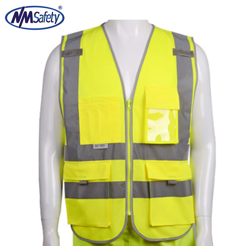 2018 Sale New Vest Material Visibility Security Safety Vest Jacket Reflective Strips Work Wear Uniforms Clothing