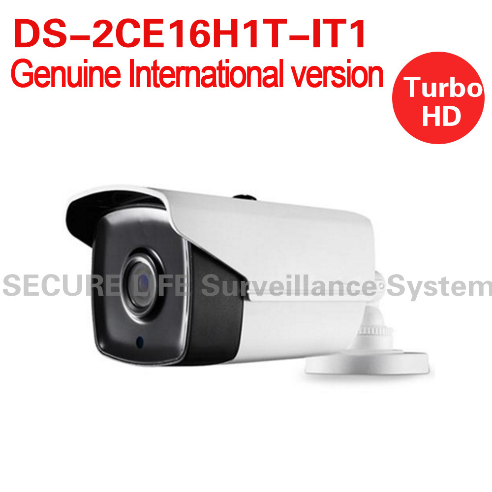 Free shipping English version DS-2CE16H1T-IT1 Turbo HD TVI camera 5MP EXIR Bullet Camera OSD menu, DNR, 20m smart IR IP67 cambridge young learners english flyers 5 answer booklet