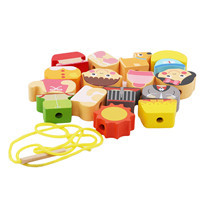 1 Set Wooden Car Farm Animal Block stringing beaded Toys For Children Learning & Education Colorful Products Kids ToyPuzzles & Games