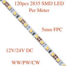 5mm FPC, Slim flexible SMD LED strip light, 120pcs 3528/ 301