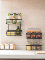 Home Iron Double deck Hanging Basket Kitchen Storage Rack