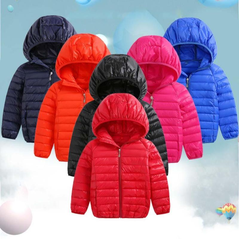 Light Children Down Coat Spring winter boys girls warm jacket for 3-8 years children Outwear clothes kids Hooded Xmas veste D3 boys winter jacket 2016 new brand hooded kids girls winter coat long sleeve windproof children down coat outwear warm 4 12 years