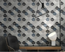 beibehang Chinese fashion colorful brick pattern wall paper checkered waterproof papier peint wallpaper coffee background