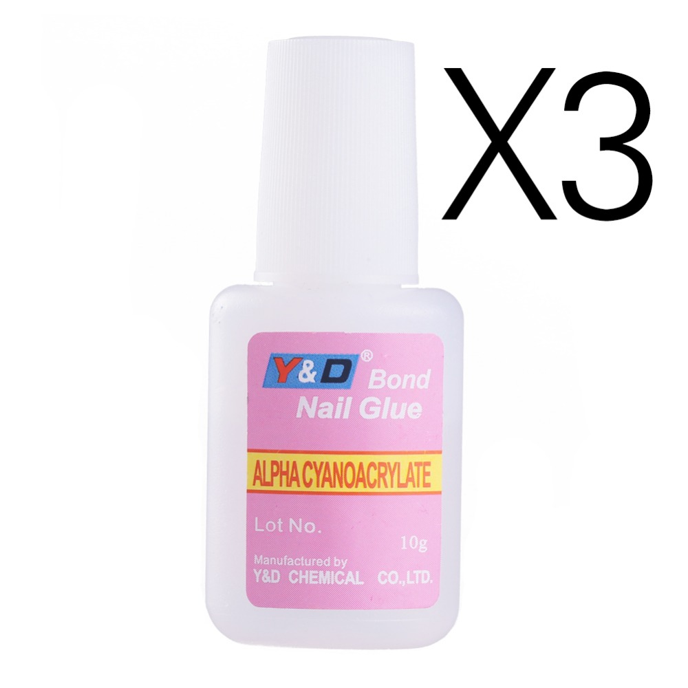3Pieces/Lot 10g Nail Art Glue Tips Glitter UV Acrylic Rhinestones ...