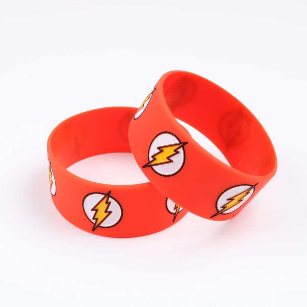 The Flash Men Silicone Bracelet Dc Comic Character Wristband Superhero Red Bracelets Ager Women