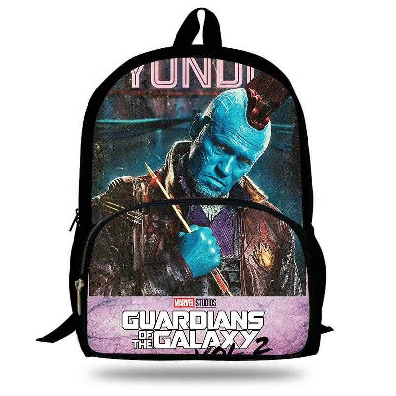 2018 New Guardians of the Galaxy Vol. 2 Boys Backpack For Teenagers Men Star-lord/Yondu Print Girls Bakcpack Children School Bag