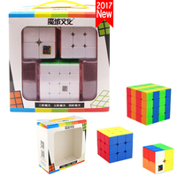 Best 2018 New Year Gifts Toys For Children Boys 3PCS Set Puzzle Magic Cube 3x3x3 4x4x4