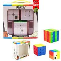 Beste 2018 Nieuwe Jaar Geschenken Speelgoed voor Kinderen Jongens 3 Stks/set Puzzel Magic Cube 3x3x3 4x4x4 2x2x2 Professionele 2*2 3*3 4*4 MF2S Cubes