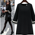 2016 New Autumn  Europe and The United States Women's New Dress Show Thin Long Loose Butterfly Sleeve Fashion Dress 701G 35