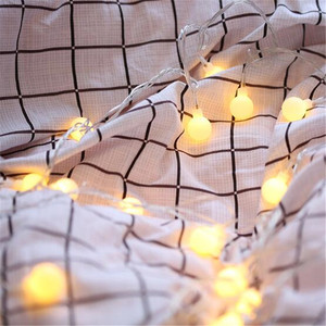 Fashion Holiday Light Ball LED String Lamp 1.5M 3M 6M 10M 20M 30M AA Battery Power Fairy String Waterproof Outdoor Wedding Decor