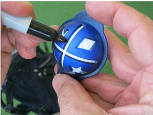 Image 5 - Freeshipping đóng gói bóng golf lót và bút Nhà Máy nóng bán Bóng Golf Liner và Nhận Dạng đánh dấu