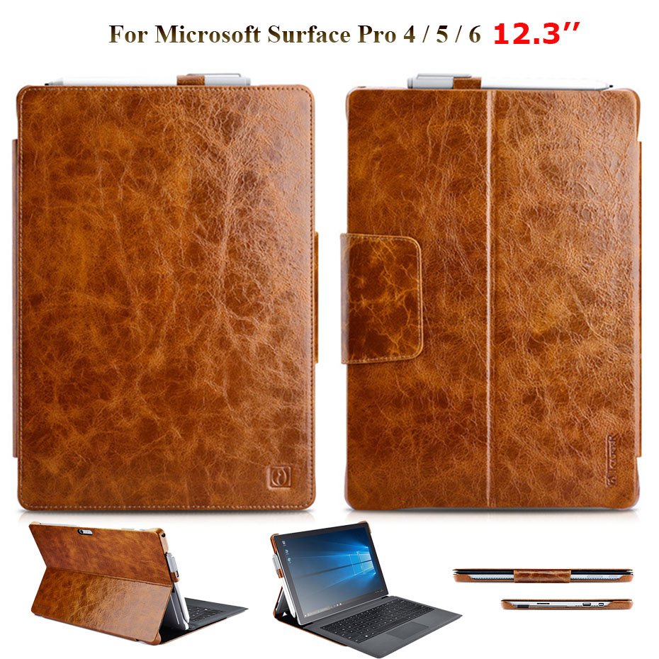 For Microsoft Surface Pro 6 Surface Pro 5 Oil Wax Cowhide Genuine Leather Case For Surface Pro 4 Crocodile Grain Stand CoverFor Microsoft Surface Pro 6 Surface Pro 5 Oil Wax Cowhide Genuine Leather Case For Surface Pro 4 Crocodile Grain Stand Cover