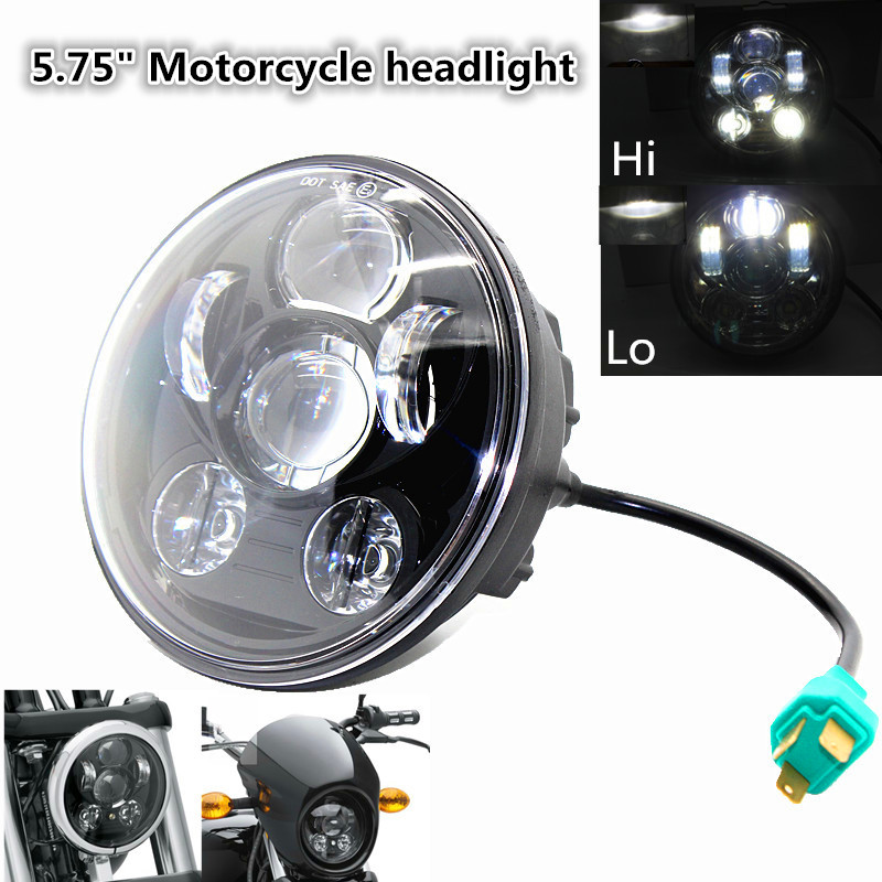 New Motos Accessories 5 3/4″ led headlight 5.75 inch headlight motorcycle Projector Daymaker for Harley Road Glide Dyna