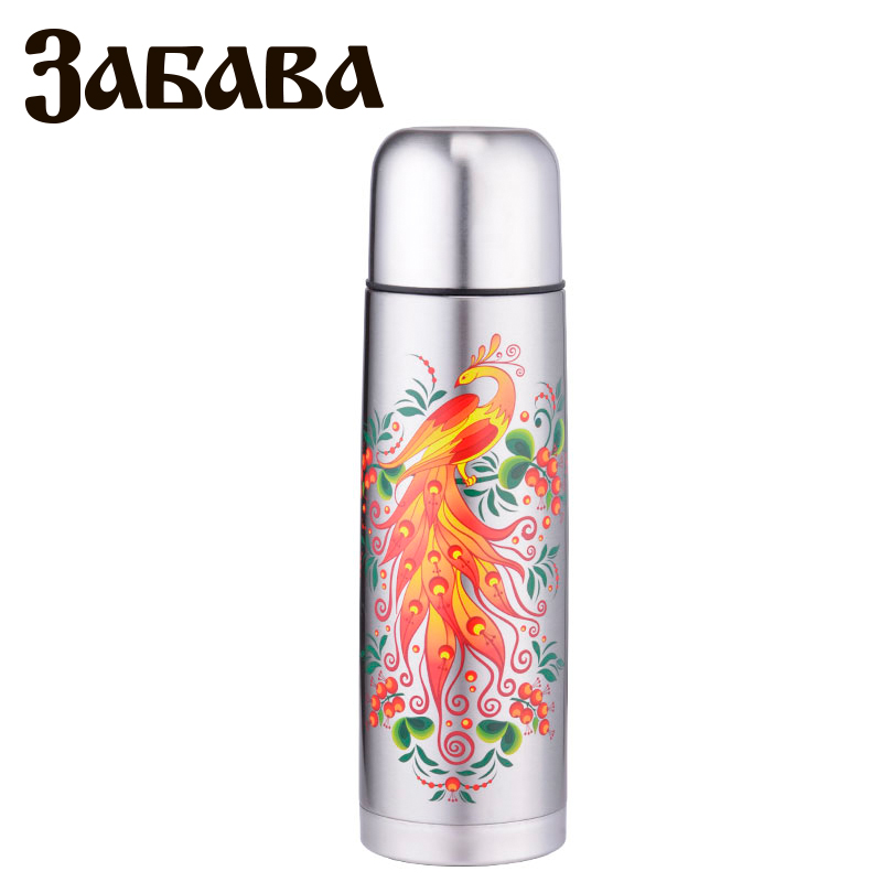 ZABAVA RK-0750M Thermose 750ml Vacuum Flask Thermose Travel Sports Climb Thermal Pot Insulated Vacuum Bottle Stainless Steel ryder n1005 outdoor dual layer stainless steel abs water bottle red 600ml