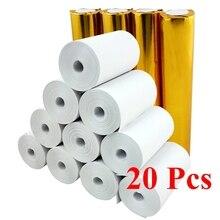"""Термобумага 57x30 мм без сердечника BPA бесплатно 20 рулонов 2 1/"""" x 33"""" супер длинный Мобильный bluetooth кассовый аппарат рулон бумаги"""