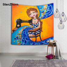Speed Sell Through Amazon Best Sellers Number Printing Tapestry Wall  Tapestry Sandy Beach A Piece Of 68814e2c9749