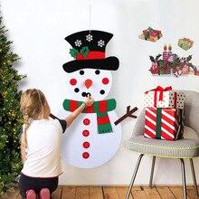 Рождественские украшения DIY войлочный Снеговик Детская Новогодняя игрушка подарок детские игрушки с украшениями дверной Настенный комплект рождественские украшения