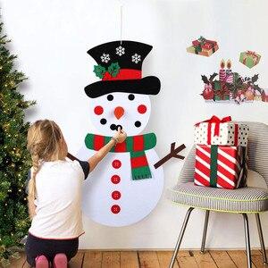 DIY Felt Snowman Christmas Tree Decorations New Year Gift with Xmas Ornaments Door Wall Hanging Navidad Kids Toys